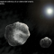 Artistic rendition of a binary asteroid (NASA)