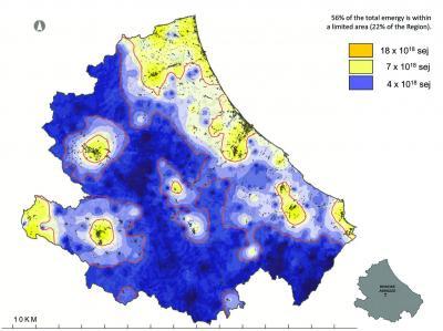 georeferenziazione della concentrazione di energia e materia usate sul territorio