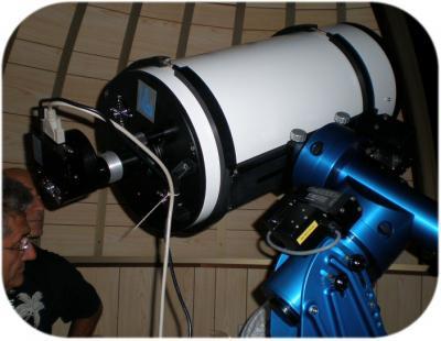 L'interno dell'Osservatorio Astronomico al lavoro.