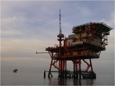 Piattaforma estrattiva off-shore in Mar Adriatico