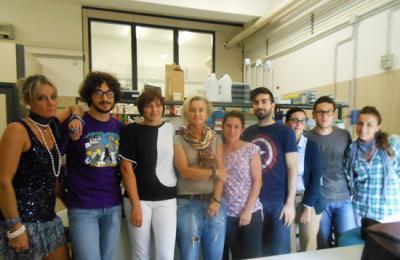 Maria Cristina Fossi col suo gruppo di lavoro