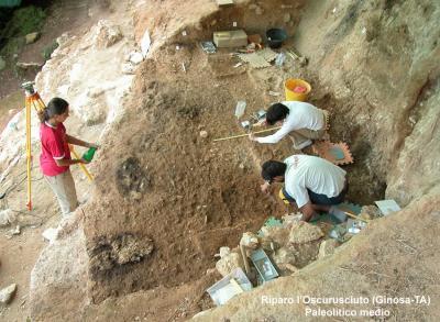 Ginosa (TA) - Riparo l'Oscurusciuto (Paleolitico Medio)