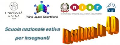 logo scienza in 4D