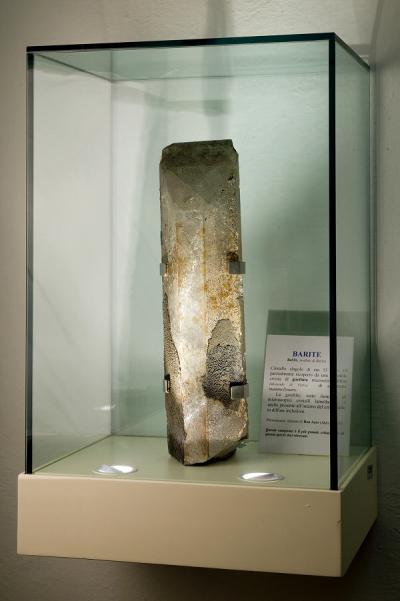 Museo Scienze della Terra, grosso cristallo di barite